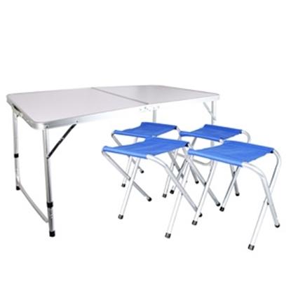 Изображение Kempinga mēbeļu komplekts, galds + 4krēsli