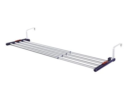 Attēls no LEIFHEIT Quartett Duo Wall-mounted rack Black, Stainless steel