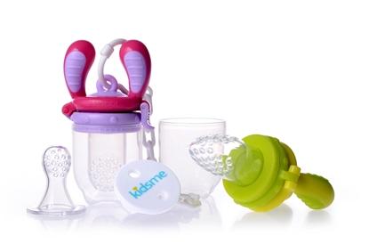 Изображение Akcija! Kidsme Food Feeder Starter Pack komplekts, Lime/Lavender