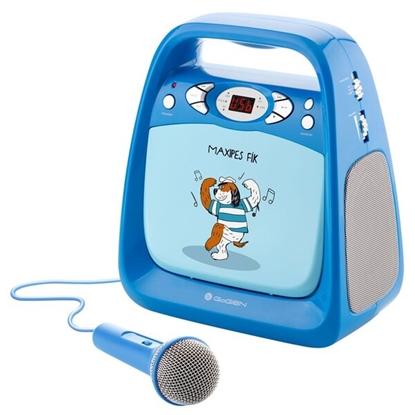 Picture of GoGen Portable Maxi Karaoke CD Player with bluetooth GOGMAXIKARAOKEB Blue, 6xLR14 (type C)