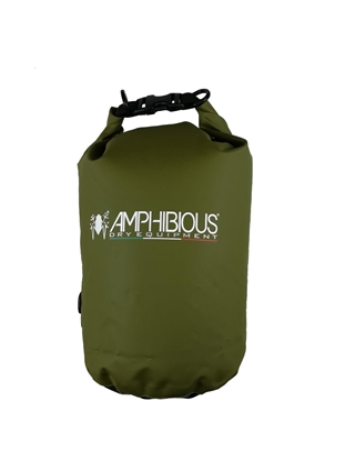 Attēls no AMPHIBIOUS WATERPROOF BAG TUBE 10L GREEN P/N: TS-1010.15