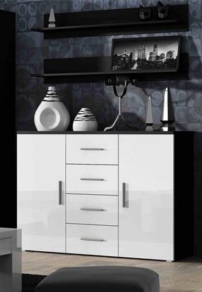 Изображение Cama living room sideboard UNI black/white gloss