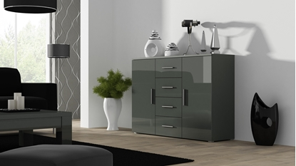 Изображение Cama living room sideboard UNi grey/grey gloss