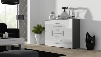 Изображение Cama living room sideboard UNI grey/white gloss