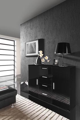 Изображение Cama living room sideboard UNI NIGHT black/black gloss
