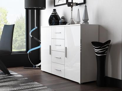 Изображение Cama living room sideboard UNI WHITE white/white gloss