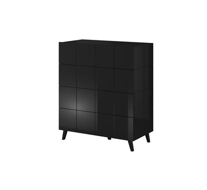 Изображение Cama chest of drawers 4D REJA black gloss/black gloss