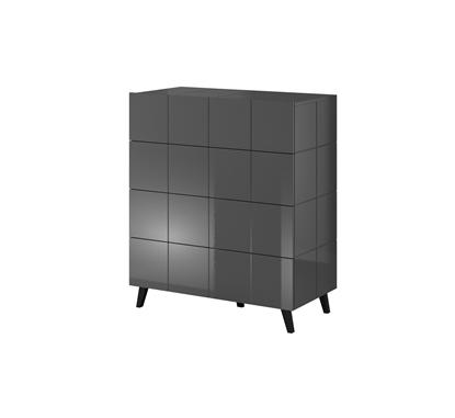 Изображение Cama chest of drawers 4D REJA graphite gloss/graphite gloss