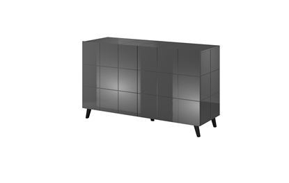 Изображение Cama sideboard 2D REJA graphite grey gloss/graphite grey gloss