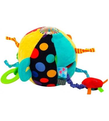 Picture of Attīstošā rotaļlieta Miksta bumba ar grabuļišiem 16 cm BM-8545-15