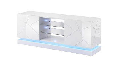 Изображение Cama TV cabinet QIU 160 MDF white gloss/white gloss