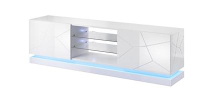 Изображение Cama TV cabinet QIU 200 MDF white gloss/white gloss