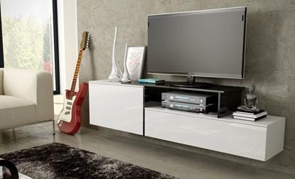 Изображение Cama TV cabinet SIGMA 3 180 white/white gloss + black