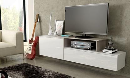 Изображение Cama TV cabinet SIGMA 3 180 white/white gloss + sonoma oak
