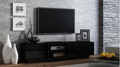 Изображение Cama TV cabinet SIGMA1 180 black/black gloss