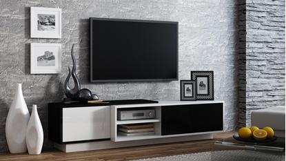 Изображение Cama TV cabinet SIGMA1 180 white/black gloss