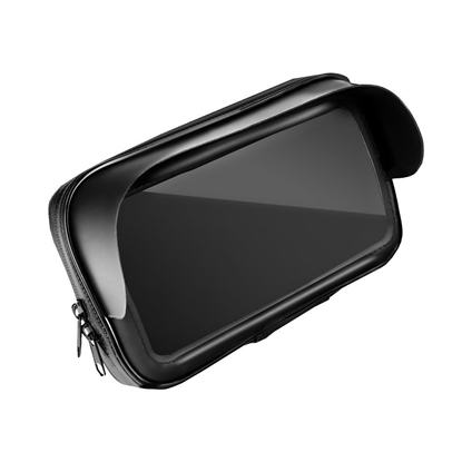 """Изображение RoGer Bicycle / Scooter Holder Waterproof with Zip and Hood 5,5"""" - 6,3"""" with Window Black"""