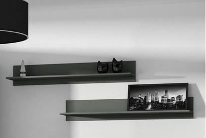 Attēls no Cama set of two shelves 125cm SOHO black matte