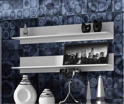 Attēls no Cama set of two shelves 125cm SOHO white matte