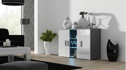 Изображение Cama sideboard 120 cm SOHO S7 grey/white gloss