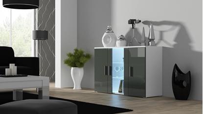 Изображение Cama sideboard 120 cm SOHO S7 white/grey gloss