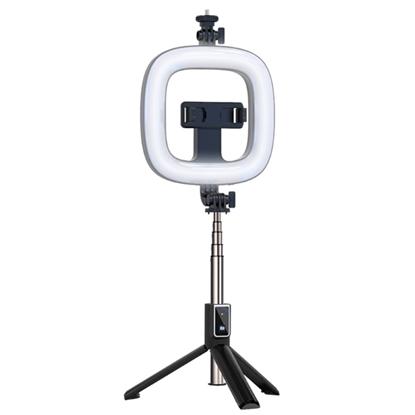 Picture of CP X1 LED 16cm Uzlādējama Selfie Lampa ar BT Pulti & Rokturi + Grīdas statīvu 20-90cm + Telefona stiprinājums