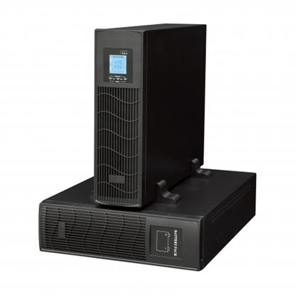 Picture of 6000 Online UPS Rack modelis 6kVA (3U) ar papildus bloku (3U) paredzēts 16 x 7Ah/12V akumulatoriem