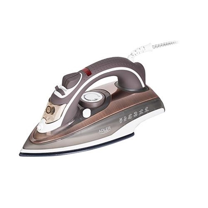 Attēls no Adler AD 5030 iron Steam iron Ceramic soleplate Brown,Grey,White 3000 W