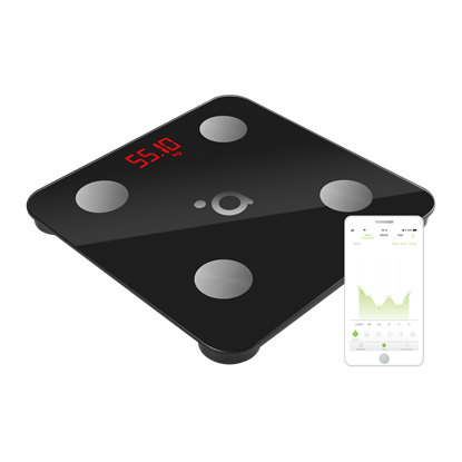 Picture of Acme Smart Scale SC103 Maximum weight (capacity) 180 kg, Body Mass Index (BMI) measuring, Black