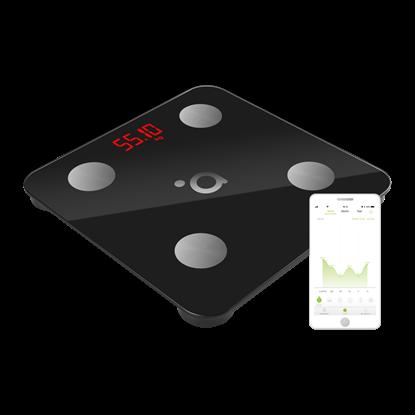 Изображение Acme Smart Scale SC103 Maximum weight (capacity) 180 kg, Body Mass Index (BMI) measuring, Black