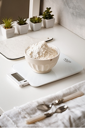 Attēls no Adler Electronic Kitchen scale AD 3167w Maximum weight (capacity) 10 kg, Graduation 1 g, Display type LCD, White