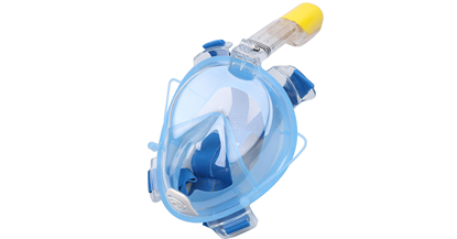 Attēls no RoGer Full Dry Snorkeling Mask L / XL Light Blue