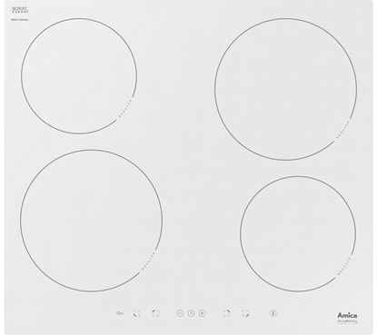 Изображение Amica PI6108PLU Cooktop White Built-in Induction hob 4 zone(s)