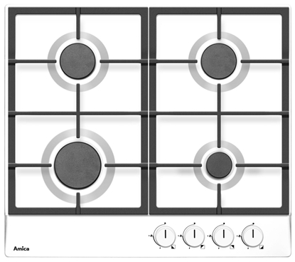 Picture of Amica PGA6100APW hob enameled Built-in Gas 4 zone(s)