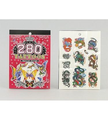 Picture of Tetovējumi bērnu drakoni/taureņi dažādas 280 gab. 207844