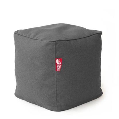 Изображение Mocco Pupu Maiss Pouf COZY CUBE 40x40x40 cm made of upholstery fabric Gray