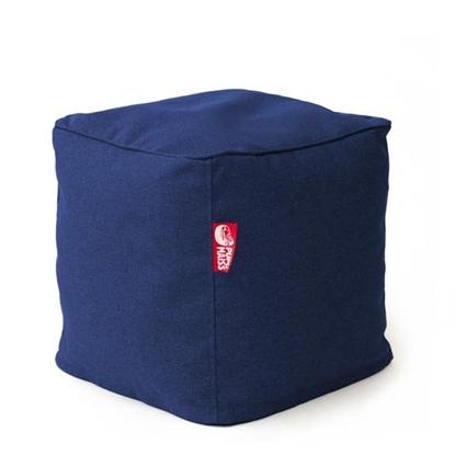 Изображение Mocco Pupu Maiss Pouf COZY CUBE 40x40x40 cm made of upholstery fabric Navy