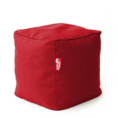 Изображение Mocco Pupu Maiss Pouf COZY CUBE 40x40x40 cm made of upholstery fabric Red