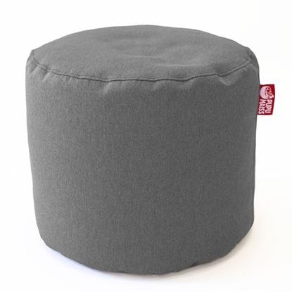 Изображение Mocco Pupu Maiss Pouf POP COZY made of upholstery fabric 35x45 cm Grey