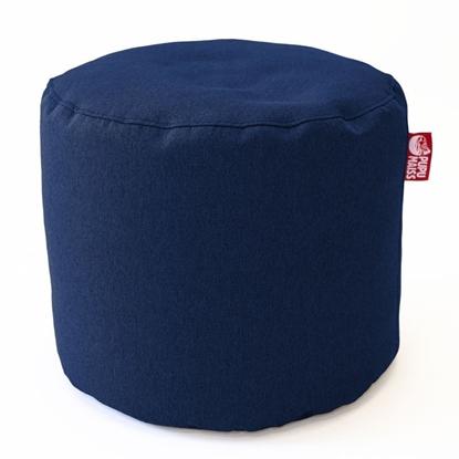 Изображение Mocco Pupu Maiss Pouf POP COZY made of upholstery fabric 35x45 cm Navy