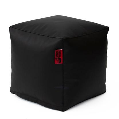 Изображение Mocco Pupu Maiss Pouf SMART 40x40x40 cm made of eco leather Black