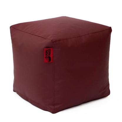 Изображение Mocco Pupu Maiss Pouf SMART 40x40x40 cm made of eco leather Burgundy