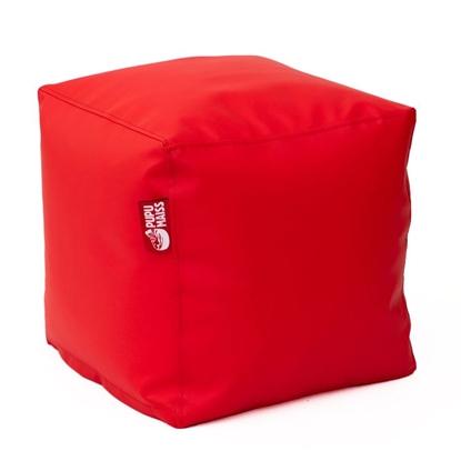 Изображение Mocco Pupu Maiss Pouf SMART 40x40x40 cm made of eco leather Red