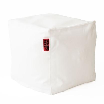 Изображение Mocco Pupu Maiss Pouf SMART 40x40x40 cm made of eco leather White