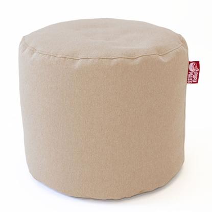 Изображение Mocco Pupu Maiss Pouf POP COZY made of upholstery fabric 35x45 cm Beige