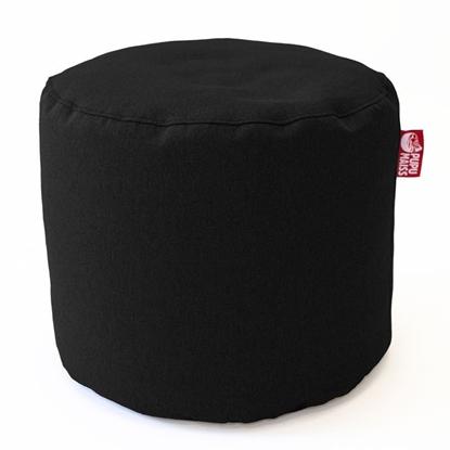 Изображение Mocco Pupu Maiss Pouf POP COZY made of upholstery fabric 35x45 cm Black