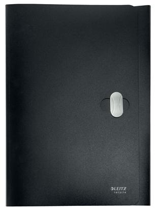Attēls no ESSELTE Mape Leitz, no pārstrādāta materiāla, ar 3 iekš. atl., A4, melna