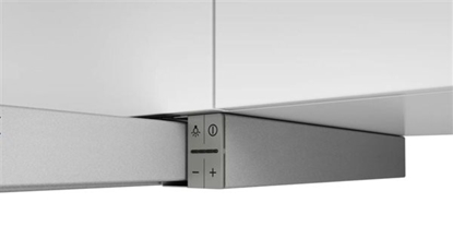Изображение Bosch Hood Serie 4 DFS067A51 Telescopic, Energy efficiency class A, Width 60 cm, 399 m³/h, Push Buttons, LED, Silver