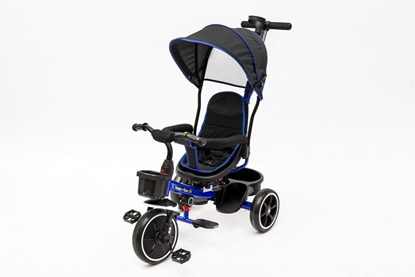 Attēls no EcoToys Tricycle with Handle / Black with blue