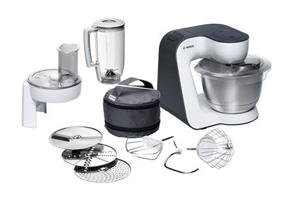 Attēls no Bosch MUM52120 food processor 3.9 L Black,Stainless steel,Transparent,White 700 W